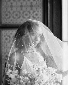 Black and white film bridal portrait with veil by Curved & Co. Fair Photography, Bridal Photography, Bridal Shoot, Bridal Veils, Wedding Film, Wedding Videos, Bridal Portraits, Destination Wedding, Wedding Inspiration