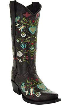 Amazon.com | Soto Boots Women's Jasmine Floral Square Toe Cowgirl Boots M50043 (Tan, 5.5 B(M) US) | Mid-Calf Womens Cowgirl Boots, Western Boots, Cowboy Boots, Western Theme, Cowgirl Outfits, Western Wear, Get Skinny Legs, Snow Boots Women, Professional Women