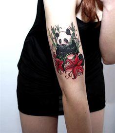 Panda tattoo!! Omigosh!! I sooooo want this..... Maybe. When I'm way older..... -Hailey
