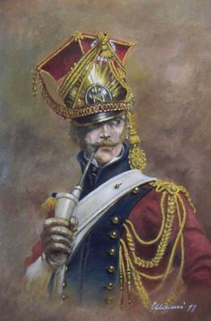 Lanciere olandese del 2° Reggimento Cavalleggeri Lancieri della Guardia Imperiale, uniforme di servizio 1810-1814