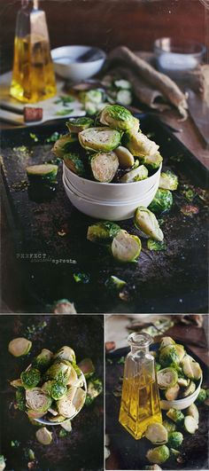 Oven Baked Brussels Sprouts - really tasty, I'd recommend drizzling extra balsamic on it at the end to give it a bit more flavor.