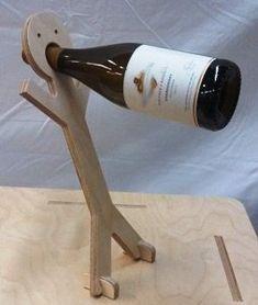 Stick Man Floating Wine Bottle Holder