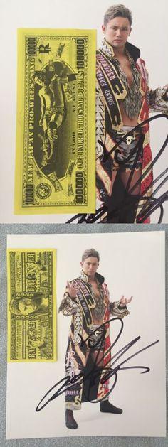 Wrestling 2902: Njpw New Japan Pro Wrestling Kazuchika Okada Autograph Photo And Dollar Wwe G1 -> BUY IT NOW ONLY: $59.99 on eBay!