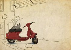 vespa at galata by ahmetcoka, via Flickr