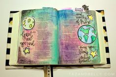 Video on how to bible journal these pages :) Such a lovely style!