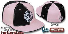 f43f42e10 Mavericks PINWHEEL Black Pink Fitted Hat by New Era on hatland.com New Era
