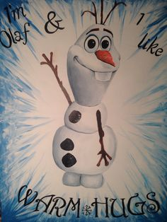Disney's Frozen Olaf Painting
