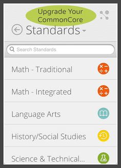 Always have the CommonCore in your pocket! - iCommonCore with - CommonCore at your Fingertips! Have you seen their upgraded app - a.g Haven't tried it yet but it looks nice-Joy Common Core Ela, Common Core Curriculum, Common Core Standards, Teacher Tools, Teacher Resources, Teaching Ideas, Mastery Connect, Apps For Teachers, Library Lessons