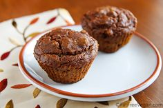 Mary's Pumpkin Walnut Muffins - fat-free except for the walnuts!