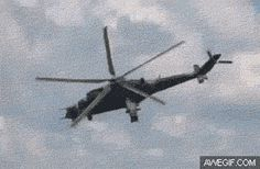 When a camera's shutter speed matches the rotation of a helicopter's blades…