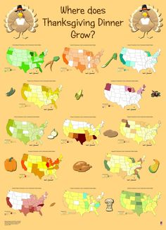 Thanksgiving Maps, Posters and Geospatial Data