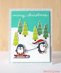 https://flic.kr/p/BQHKau | debduty-penguinchristmas | Lawn Fawn Toboggan Together