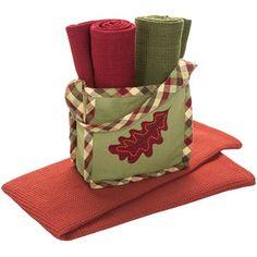 DII Kitchen Linens Gift Bag Set - Three Dish Towels