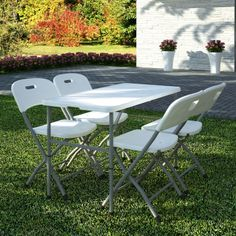 Outdoor furniture, garden set, set with 4 chairs and table.   www.vidaxl.com