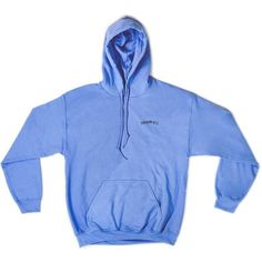 Shadow Hill Carolina Blue Oversized Merch Hoodie ($58) ❤ liked on Polyvore featuring tops, hoodies, hoodie top, blue hooded sweatshirt, blue hoodie, oversized hoodies and blue hoodies