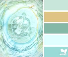 teal tones...as the color of my bathroom will tell you...I love teal!