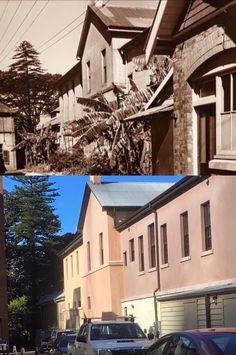 Hyde Park Barracks outbuildings 1935 > 2016. [Sydney Living Museums > Phil Harvey. By Phil Harvey]