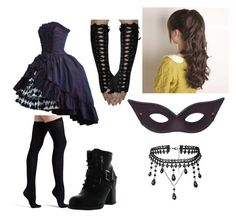 """""""Perri's masquerade outfit"""" by cagily on Polyvore featuring Commando and Betani"""