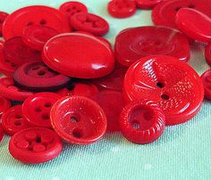 Tomato red buttons!  #tomato #red #buttons