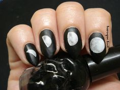 Yes I know everyone and their sister already wore these nails . Moon Phases, Nail Polish, Nail Art, Nails, How To Make, Ongles, Finger Nails, Manicure, Nail Arts