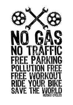 cadencioso: andar en bicicleta, salvar el mundo ... por Ciclos Hizoku