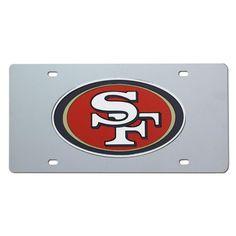 San Francisco 49ers NFL Laser Cut License Plate Cover