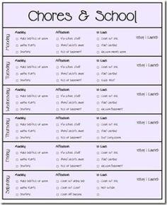 Chore Charts by mattie