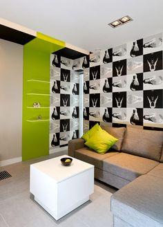 Interior Design of A Modern Family in Poland. Boa idéia para um adesivo de parede!