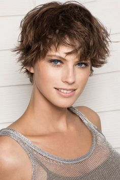 awesome Different Hairstyles : Wash And Go Short Messy Hairstyles With Side Bangs For Oval Faces Older Women Over 50 With Wavy Blonde Hair Short Messy Hairstyles for Women with Fine Hair Messy Hair For Fine Hair. Short Messy Hairstyles For Thick Hair. Very Short Hair, Short Hair Cuts For Women, Short Curly Hair, Short Hairstyles For Women, Curly Hair Styles, Short Haircuts, Short Pixie, Short Wavy, Messy Pixie