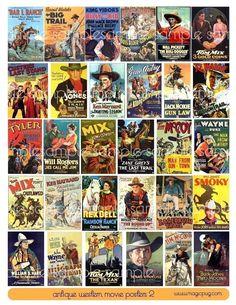 Antique Western Cowboy Movie Poster II