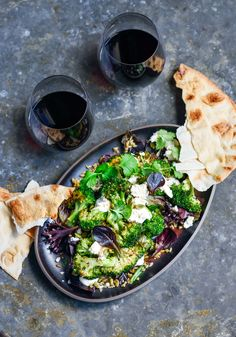 roast broccoli & freekeh salad – Stuck in the kitchen