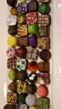 Fall in love with chocolate, again at COCOVA in Washington DC. @melise752 you must go here   These remind me of Peace, Love, and Chocolate in Boulder!!