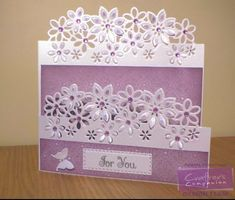 Card using Crafter's Companion Die'sire Edge'able (Floral Dance). Designed by Angela Clerehugh #crafterscompanion