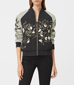 Amarey Embroidered Bomber Jacket