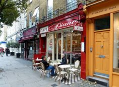 Cafe Diana @ Notting Hill - where I ate my first meal in London after stumbling off my early morning flight