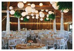 Country Fair Theme Wedding  Really like the ferns hung from beams totally doable at Walnut Glen