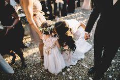 Bride , Groom , and Flower Girl : Glamorous Wedding