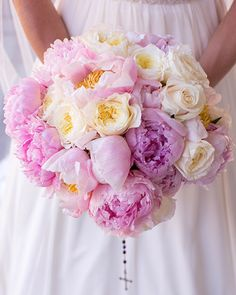 beautiful-wedding-bouquets designcorral.com #bouquets #wedding #peonies