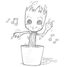 Dancing Groot by Banzchan.deviantart.com on @deviantART