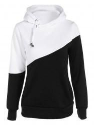 Color Spliced Pullover Hoodie - Demonte Fashion