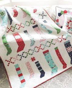 Pixie Stockings Quilt Pattern PDF Tasha Noel by alittlesweetness