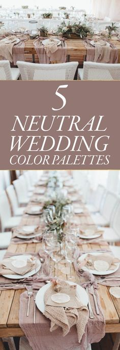 We love neutral color schemes at weddings because they are relaxing on the eyes and make a perfect backdrop for bolder decor pieces.