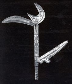 Africa | Zande people, DR of Congo | Throwing Knife | Wood, Copper, Iron | 19-1/2 in. | 19th-20th century