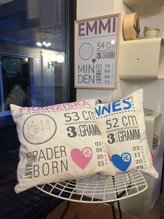 Kissen & Plakat zur Geburt von LARA BIM Throw Pillows, Birthday, Ludwig, Handmade, Silhouette Cameo, Inspiration, Diy Ideas, Design, Creative Ideas
