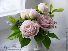 """Купить Букет """"Romantic"""" с розами и пионами - розовый, букет, букет цветов, букет невесты"""