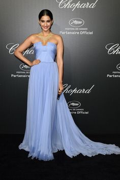Fabulously Spotted: Sonam Kapoor Wearing Elie Saab Couture - Chopard Backstage Dinner & Afterparty - http://www.becauseiamfabulous.com/2014/05/sonam-kapoor-wearing-elie-saab-couture-chopard-backstage-dinner-afterparty/