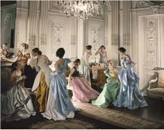Twelve Dancing Princesses [Charles James ball gowns, 1948, photographed by Cecil Beaton]