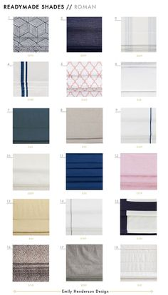 Ready-made Roman, Woven and Roller Shade Roundup Ready made shades roman woven roller blinds full roundup grid Emily Henderson design WOVEN SHADES Roman Shades Kitchen, Emily Henderson Design, Roller Shades, Home Projects, Diy Window Treatments, Blackout Roman Shades, Living Room Windows, House Blinds, Cordless Shade