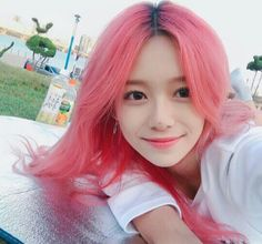 L O S T Girl With Pink Hair, Ulzzang Korean Girl, Uzzlang Girl, Best Face Products, Mannequins, Hair Inspo, Cute Hairstyles, Pretty People, Dyed Hair