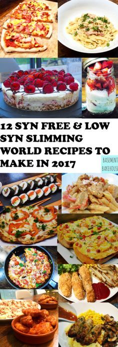12 Syn Free & Low Syn Recipes To Make In 2017 - Basement Bakehouse Slimming World Dinners, Slimming World Recipes Syn Free, Slimming World Diet, Slimming Eats, Syn Free Food, Sliming World, Sw Meals, Diet Meals, Cooking Recipes